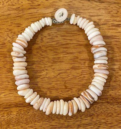 Puka Shell Bracelet by Kanna McCann - Pale Brown - PANK1486-H