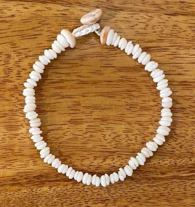 Puka Shell Bracelet by Kanna McCann - Small White - PANK1490-L