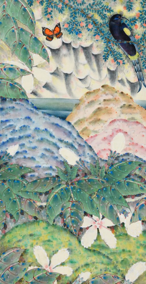 """Rain of Extinction"" Triptych Left Panel by Terris Temple - TET28"