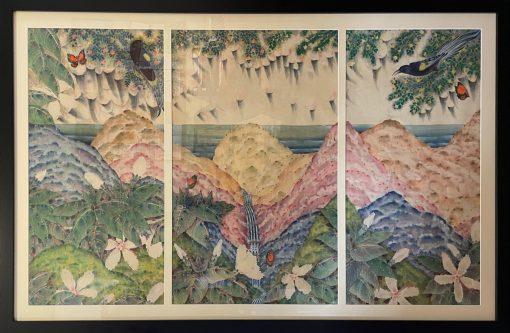 """Rain of Extinction"" Triptych by Terris Temple - TET28"