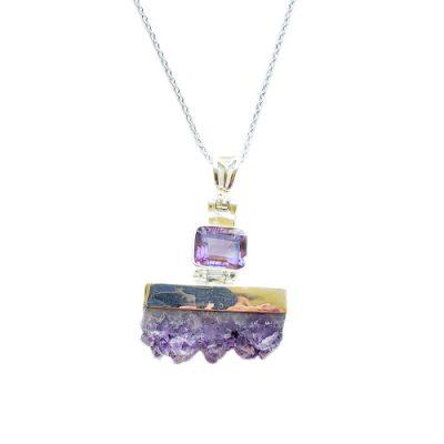 Amethyst Quartz Necklace by Alison Wahl - Stellar Jewels - AWA216