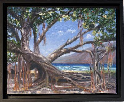 """""""Banyan Tree Lahaina"""" by Diane Snoey Appler - DAP374"""