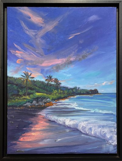 """Black Sand Beach Sunset"" by Diane Snoey Appler - DAP470"
