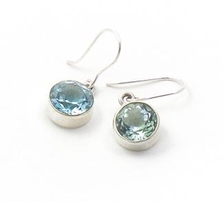 Blue Topaz Earrings by Alison Wahl - Stellar Jewels - AWA210