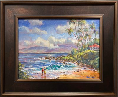 """Couple at Napili Bay"" by Mort Luby - MOL496"