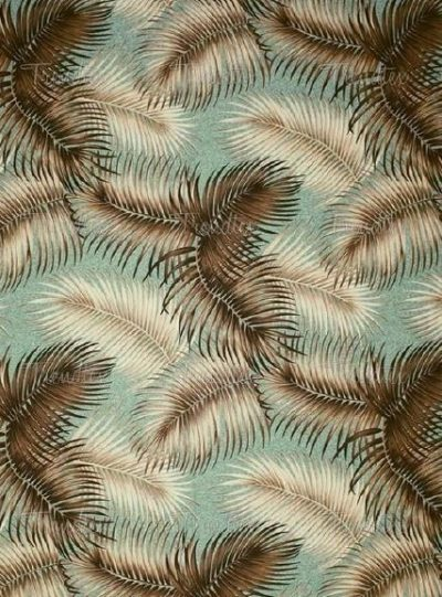 Aqua Palm patterned fabric