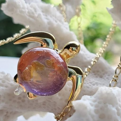 """""""Kuipo"""" Sea Turtle Pendant by Amy WakingWolf"""