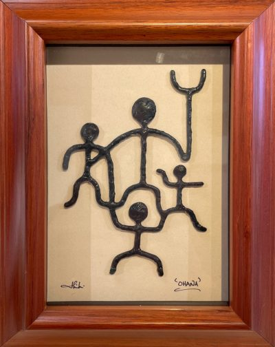 """Ohana"" Bronze/Pewter Framed Shadowbox Sculpture by John Ilnicki - JI20"