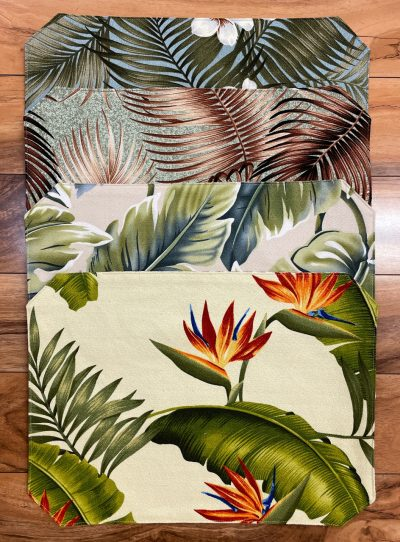 Placemats by Maui Potpourri in various tropical fabrics