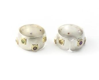 Rainbow Gems Ring by Alison Wahl - Stellar Jewels - AWA175