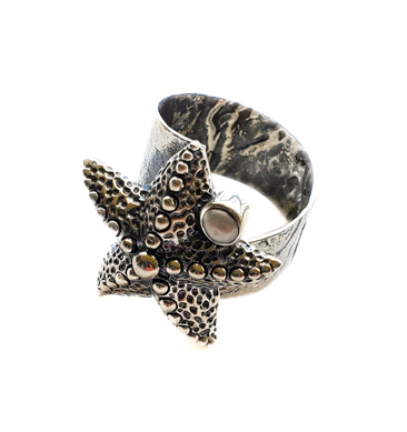 Starfish Pearl Ring by Alison Wahl - Stellar Jewels - AWA233