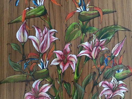 """Stargazer Lillies and Bird of Paradise"" by Christine Halton - CH583"