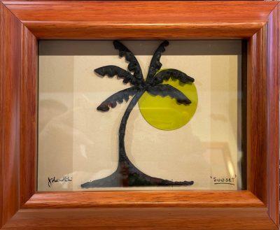 """Sunset"" Bronze/Pewter Framed Shadowbox Sculpture by John Ilnicki - JI67"