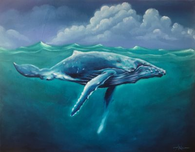 """""""Underwater Whale"""" by Ariel Quiroz - AQOP1620UW"""