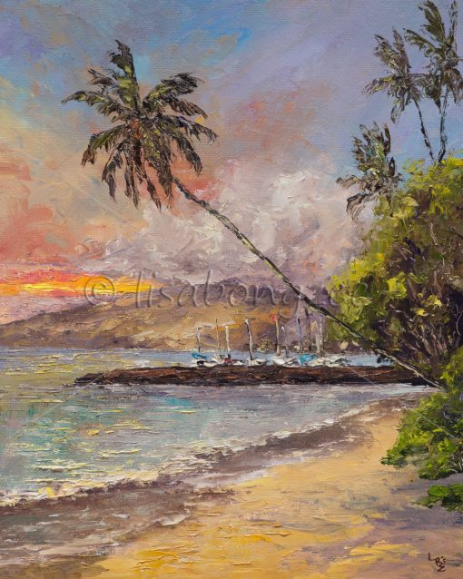 """Evening Lahaina"" by Lisabongzee - LBZ251"