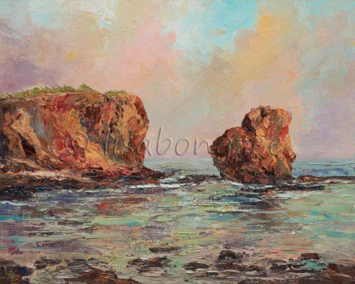 """Pu'u Pehe (Sweetheart Rock) Lana'i"" by Lisabongzee - LBZ253"