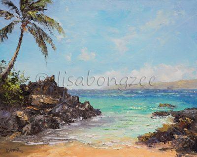 """""""Pa'ako Beach (Secret Cove) Maui"""" by Lisabongzee - LBZ265"""