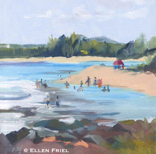 """""""Baby Beach"""" by Ellen Friel"""