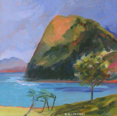 """""""Kahakuloa Bay"""" by Ellen Friel"""