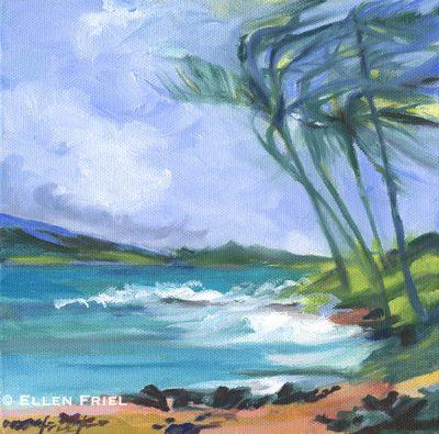 """""""Keawakapu Palms"""" by Ellen Friel"""