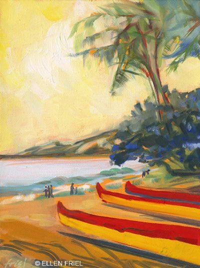 """""""Kihei Canoe Club"""" by Ellen Friel"""
