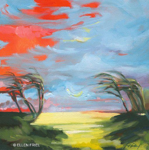 """""""Maui Palm Sunset"""" by Ellen Friel"""