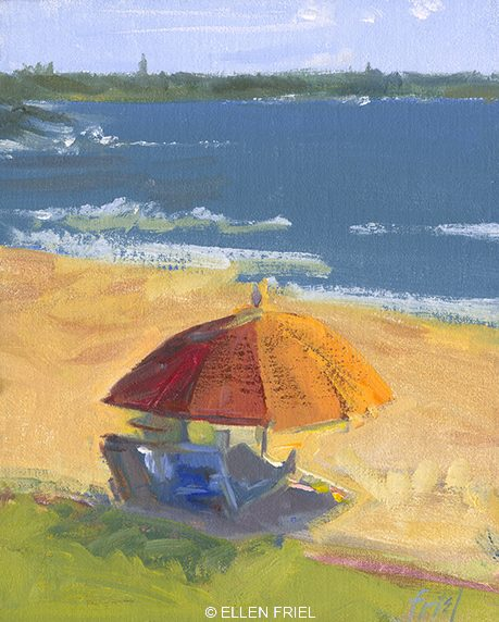 """""""Reading Beach"""" by Ellen Friel"""