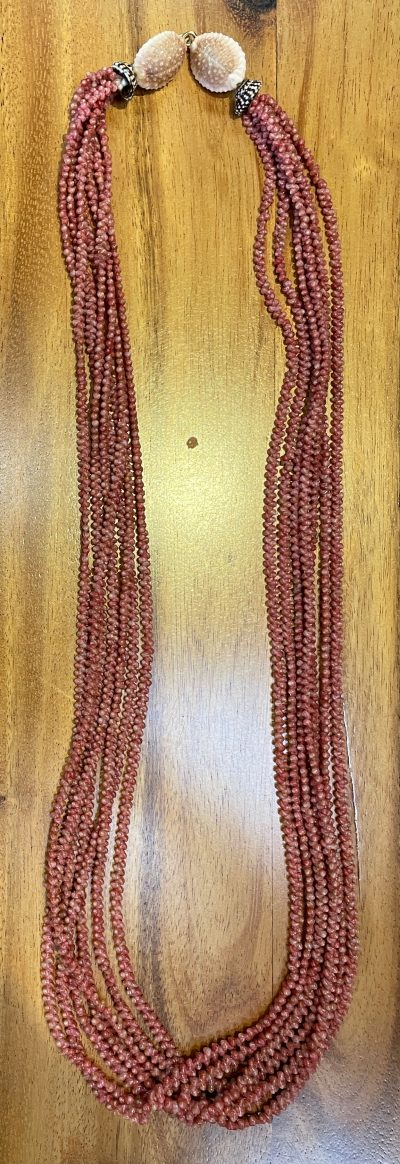 "Niʻihau Collectors' Lei, 33"" 7-Strand Mauna Loa by Corey Karleen - Full Length - PANC1056"