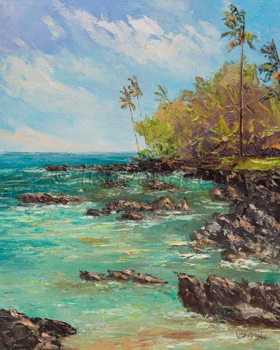 """""""Ke'anae Peninsula"""" by Lisabongzee"""