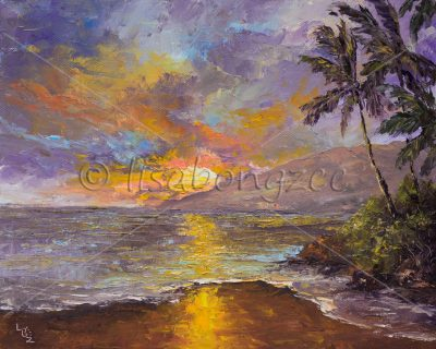 """Maui Evening"" by Lisabongzee"