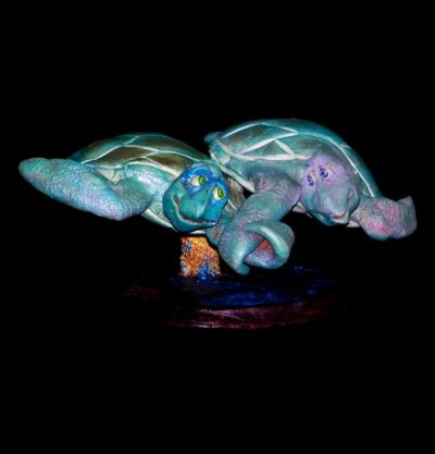 """Deep Love"" Large Double Turtle by Steven Lee Smeltzer"