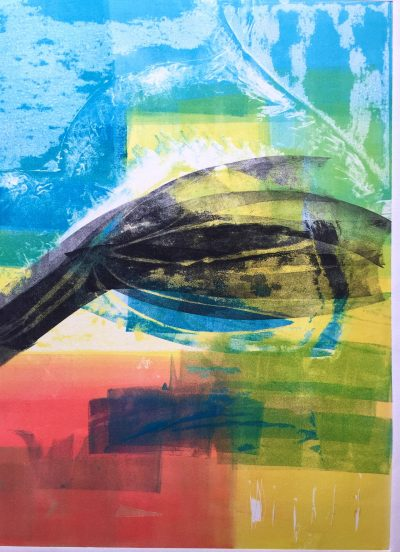 Untitled Monotype by Lali Groth